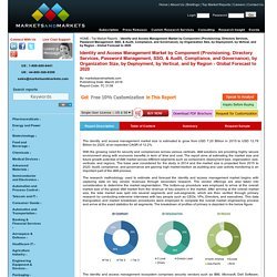 Identity & Access Management Market by Components & Deployment Types