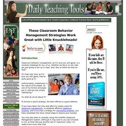 Classroom Behavior Management: A Comprehensive Set of Strategies