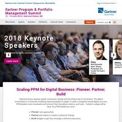 Gartner (PPM) Program & Portfolio Management Conference 2018 - National Harbor MD 12-14 June 2018