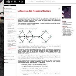 Knowledge Management, management des connaissances - L'Analyse des Réseaux Sociaux