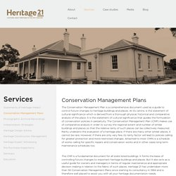 Cultural Heritage Management Plan, Heritage Building Conservation