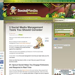 5 Social Media Management Tools You Should Consider