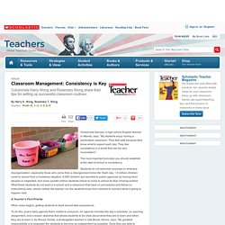 Classroom Management: Consistency is Key