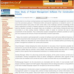 Deep Study of Project Management Software For Construction Industry