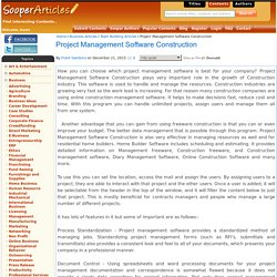 Project Management Software Construction