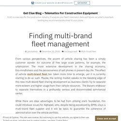 Finding multi-brand fleet management