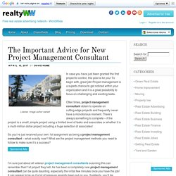 The Important Advice for New Project Management Consultant