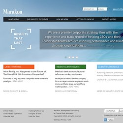 Marakon - strategy and general management consultants