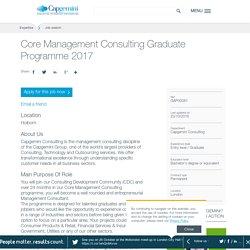 Core Management Consulting Graduate Programme 2017