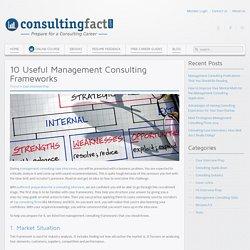 10 Useful Management Consulting Frameworks