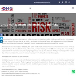 Crisis Management and Business Continuity - CORPORATE OHS LIMITED