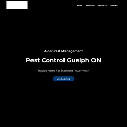 Pest Control Services Guelph CA