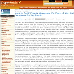Invest in Property Management in Cardiff