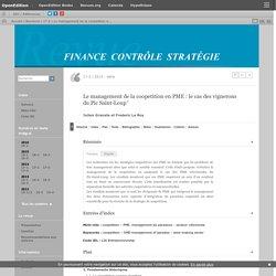 Le management de la coopetition en PME: le cas des vignerons du Pic Saint-Loup