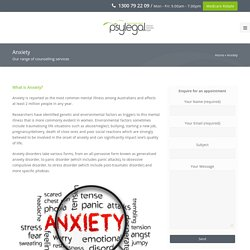 Anxiety Treatment & Management Counselling Melbourne