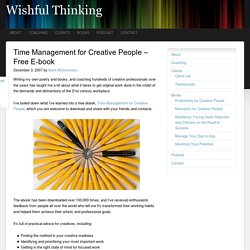 Time Management for Creative People - Free E-book