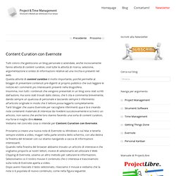 Content Curation con Evernote - Project & Time Management