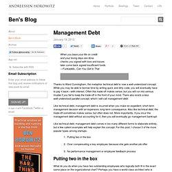 Management Debt