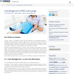 Case Management et BPM, le décryptage - Conix