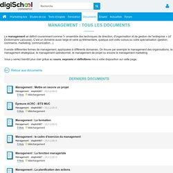 Management : definitions, cours, exposes, PDF gratuits