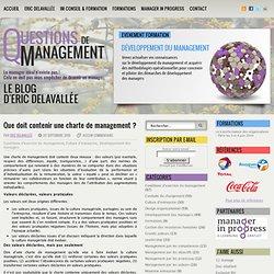 Que doit contenir une charte de management ?