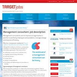 Management consultant: job description