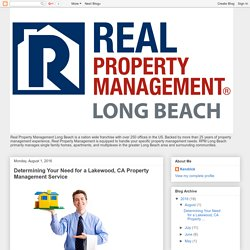 Determining Your Need for a Lakewood, CA Property Management Service