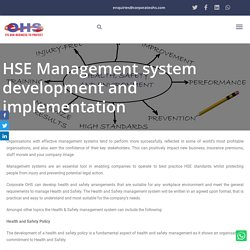HSE Management Systems Writing & Development