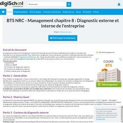 Management : Diagnostic externe et interne de l'entreprise - cours management
