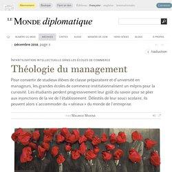 Théologie du management, par Maurice Midena (Le Monde diplomatique, décembre 2018)