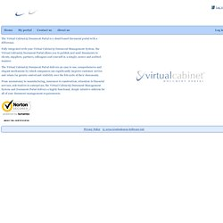 Virtual Cabinet Portal - secure cloud document management & distribution for the accountant, insurer, ifa & more