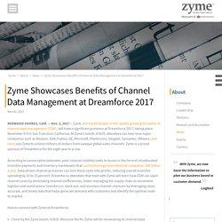 Zyme Exhibits Advantages of Channel Data Management