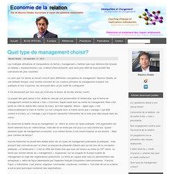 Quel type de management choisir? : Economie de la Relation