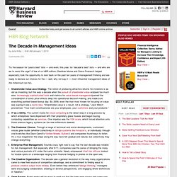 The Decade in Management Ideas - Our Editors - Harvard Business