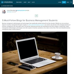 5 Must-Follow Blogs for Business Management Students: edublogsbyleona
