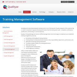 QMS Software for Training & Education Providers - Qualityze Inc.