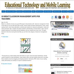 10 Great Classroom Management Apps for Teachers