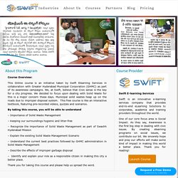 Free Solid Waste Management eLearning Online Course - Swachh bharath online course Hyderabad