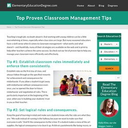 Top Proven Classroom Management Tips - Elementary Education Degree