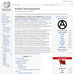 Workers' self-management