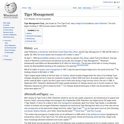 Tiger Management