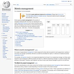 Matrix management