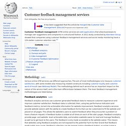 Customer feedback management services