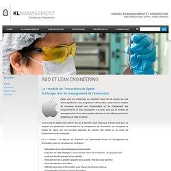 """KL MANAGEMENT - R&D et Lean Engineering - L """"i"""" modèle d'Apple"""