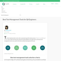Best Test Management Tools for QA Engineers - EasyQA