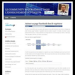 Le community management dans l'enseignement supérieur » Blog Archive » Animer sa page Facebook dans le supérieur