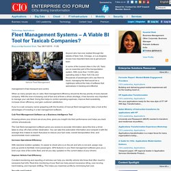 Fleet Management Systems – A Viable BI Tool for Taxicab Companies?