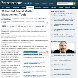 10 Helpful Social Media Management Tools