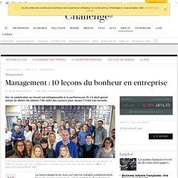 Management : 10 leçons du bonheur en entreprise - Challenges.fr
