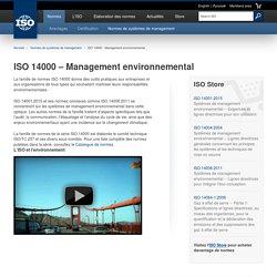 ISO 14000 – Management environnemental